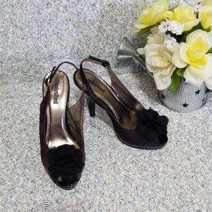 Unlisted Black Shoes Slingback Open-toe Size 7.5